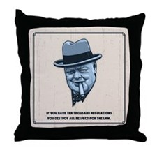 Churchill -Regulations Throw Pillow