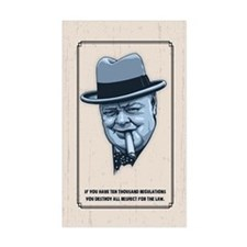 Churchill -Regulations Decal