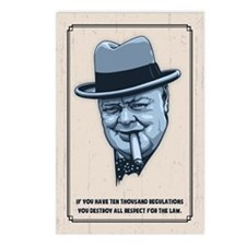 Churchill -Regulations Postcards (Package of 8)