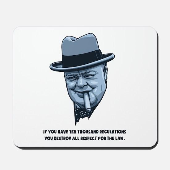 Churchill -Regulations Mousepad