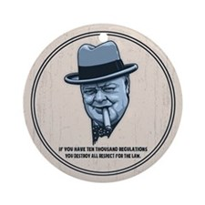 Churchill -Regulations Ornament (Round)