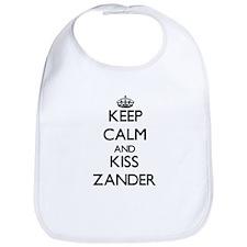 Keep Calm and Kiss Zander Bib
