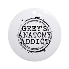 Grey's Anatomy Addict Round Ornament