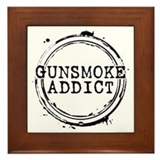 Gunsmoke Addict Framed Tile
