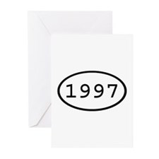 1997 Oval Greeting Cards (Pk of 10)
