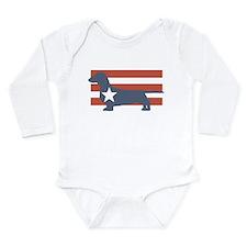 Cute Dachshund Long Sleeve Infant Bodysuit