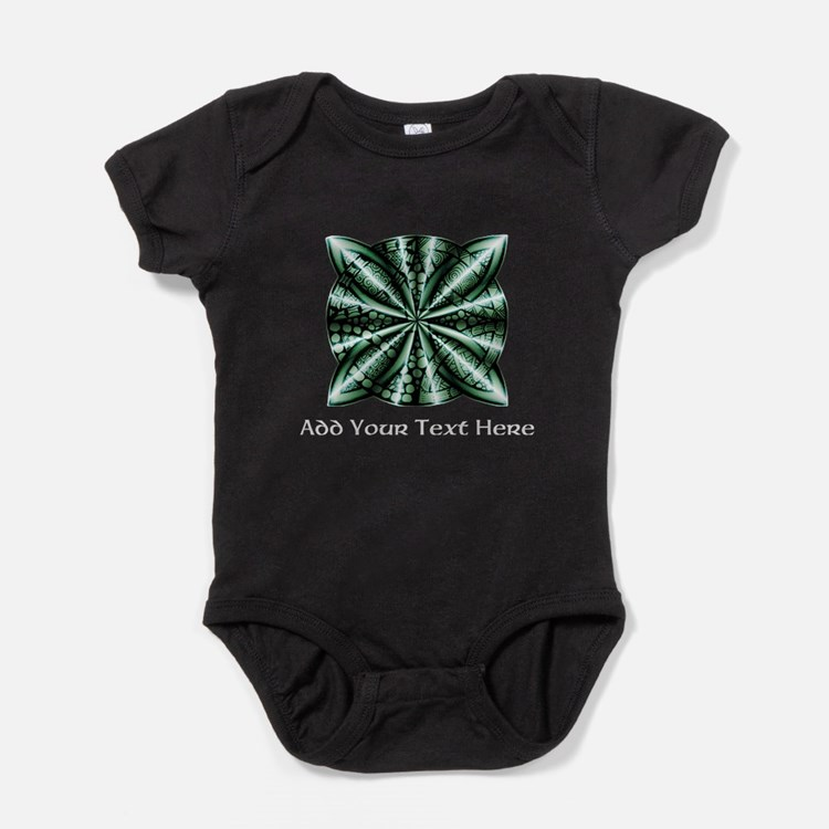 Medieval Celtic Knot Green Personali Baby Bodysuit
