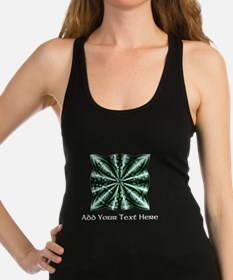 Medieval Celtic Knot Green Pers Racerback Tank Top
