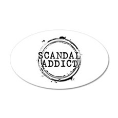Scandal Addict 22x14 Oval Wall Peel
