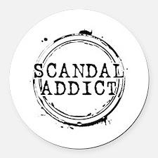 Scandal Addict Round Car Magnet