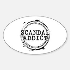 Scandal Addict Oval Decal