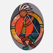 Kokopeli JOY Oval Ornament