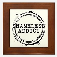 Shameless Addict Framed Tile