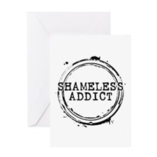 Shameless Addict Greeting Card