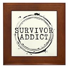 Survivor Addict Framed Tile