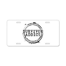 Survivor Addict Aluminum License Plate