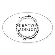 Survivor Addict Oval Decal