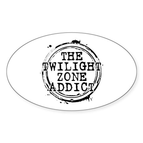 The Twilight Zone Addict Oval Sticker (50 pack)