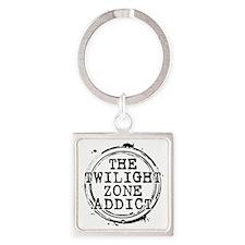 The Twilight Zone Addict Square Keychain