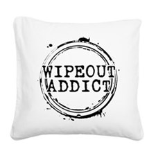 Wipeout Addict Square Canvas Pillow