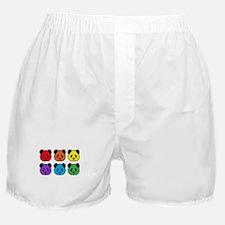 all bear 2 rows Boxer Shorts