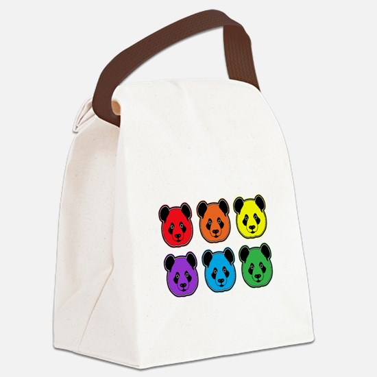 all bear 2 rows Canvas Lunch Bag