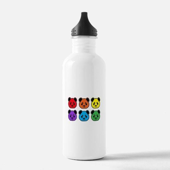 all bear 2 rows Water Bottle