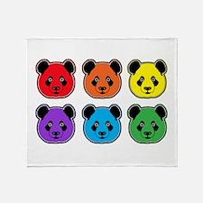 all bear 2 rows Throw Blanket