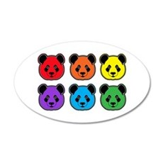 all bear 2 rows Wall Decal