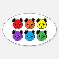 all bear 2 rows Sticker (Oval)