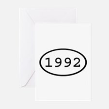 1992 Oval Greeting Cards (Pk of 10)