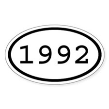 1992 Oval Oval Decal