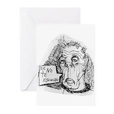 DEAF GRANDPA Greeting Cards (Pk of 10)
