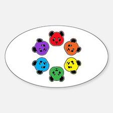 all bear hexagon Sticker (Oval)