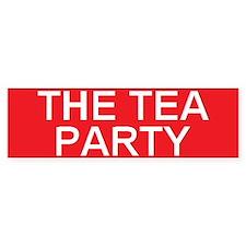 stop the tea party Bumper Bumper Sticker