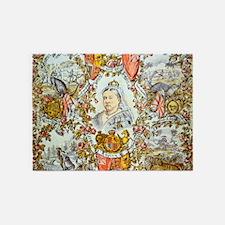 Queen Victoria Jubilee 5'x7'Area Rug
