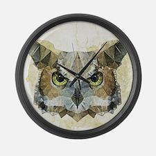 Unique Owl Large Wall Clock