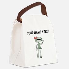 Custom Robot Girl Canvas Lunch Bag