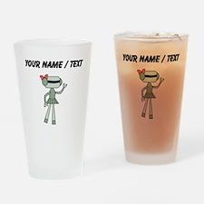 Custom Robot Girl Drinking Glass
