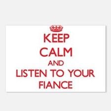Keep Calm and Listen to your Fiance Postcards (Pac