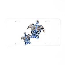 Peace Turtles Aluminum License Plate