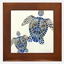 Peace Turtles Framed Tile