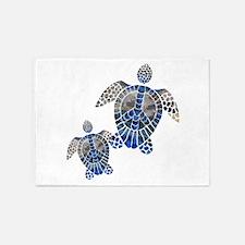 Peace Turtles 5'x7'Area Rug
