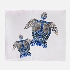 Peace Turtles Throw Blanket