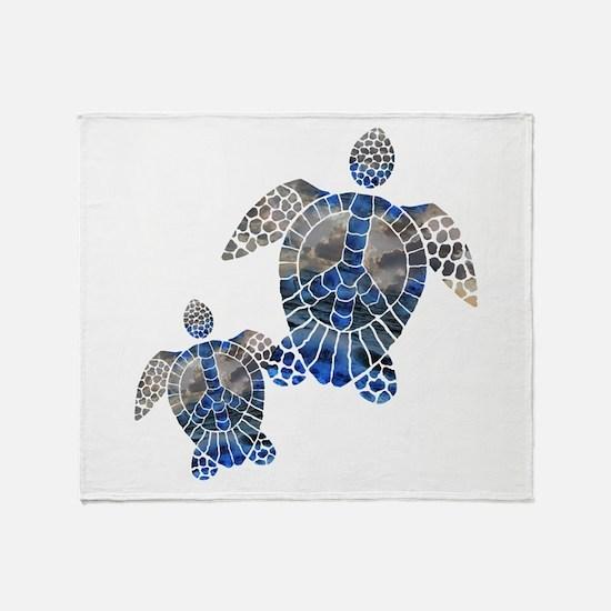 Peace Turtles Throw Blanket
