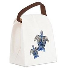 Peace Turtles Canvas Lunch Bag