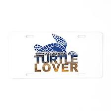 Turtle lover-1 Aluminum License Plate