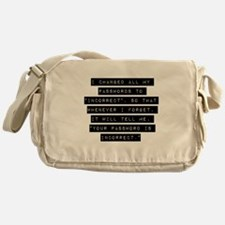 I Changed All My Passwords Messenger Bag