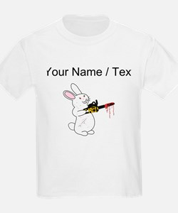 Custom Bunny With Chainsaw T-Shirt