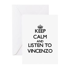 Keep Calm and Listen to Vincenzo Greeting Cards